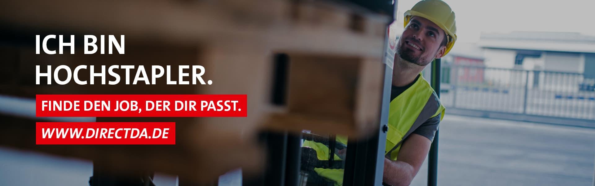 Stellenangebot Staplerfahrer – Finde den Job, der dir passt. www.directda.de
